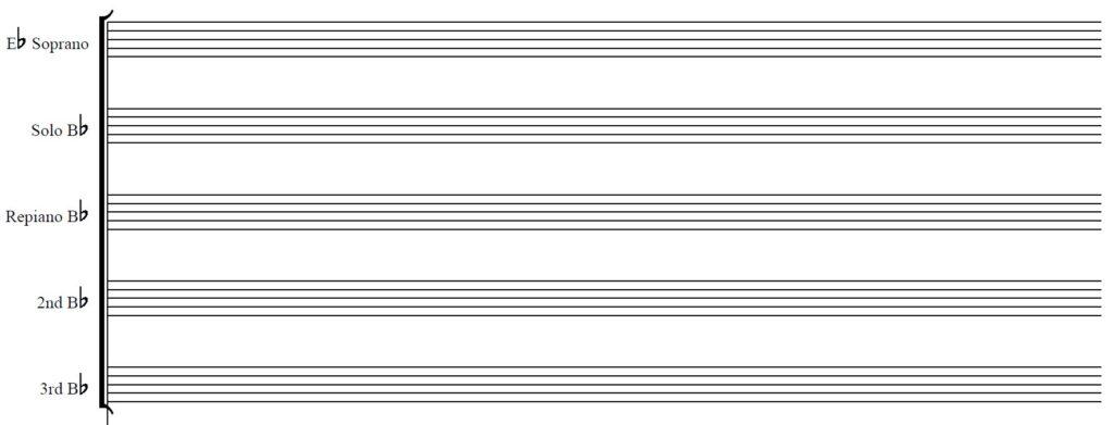 Blank Staff Paper - Brass Band