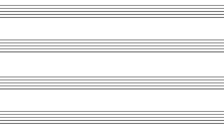 Blank Staff Paper - Instrumental Duet