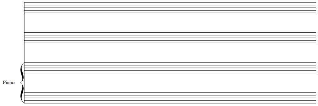Blank Staff Paper - 2 Vocals & Piano