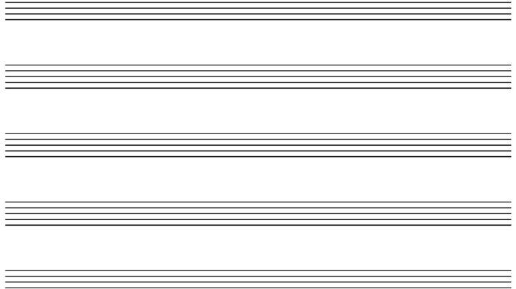 Blank Staff Paper - 10 Staffs